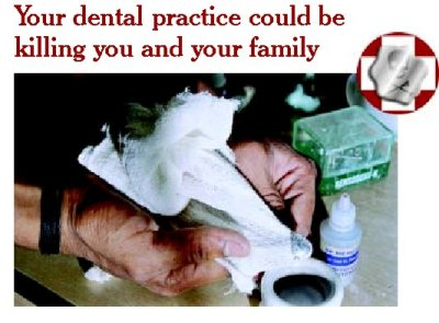 poster on use of mercury in dental practices