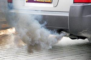 smoking vehicle